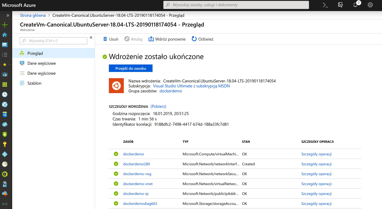 Docker Ubuntu Azure zdj.19