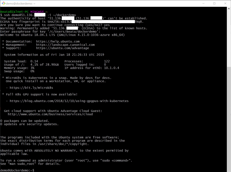 Docker Ubuntu Azure zdj.21