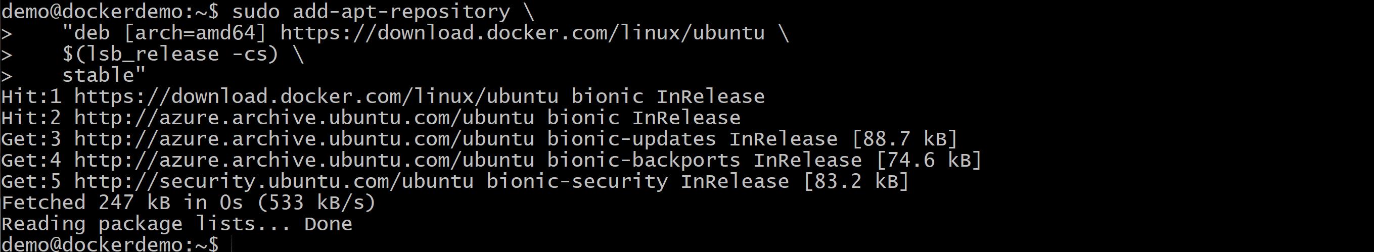 Docker Ubuntu Azure zdj.28