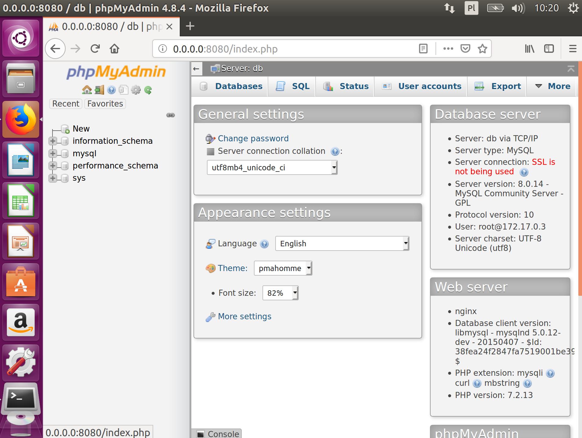 Docker i phpMyAdmin zdj.13
