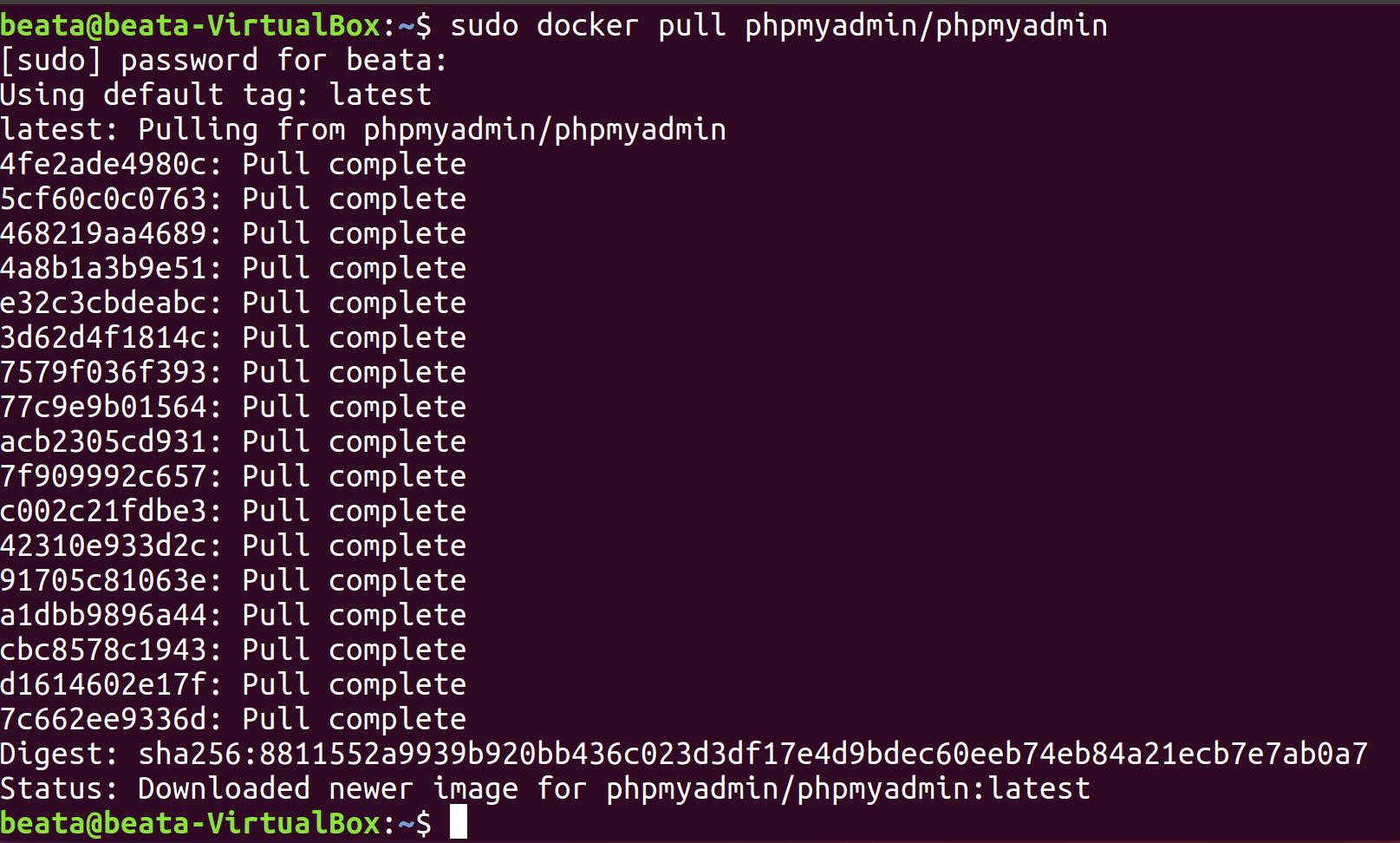 Docker i phpMyAdmin zdj.3